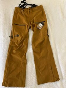 The North Face Mens Ski Pant Timber Tan Dry Vent Zip Buckle L/LNG New $380