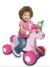 Lights And Sounds Unicorn Ride On Toy By Kiddieland