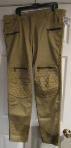 Robin's Jeans NWT Brand New $389 DYG50156  Racer Jeans Size 40 Gold Incredible