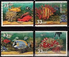Scott #3317-20 Used Set of 4, Aquarium Fish