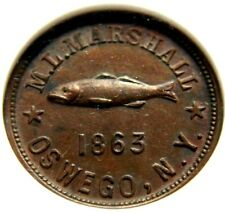 1863 CW SMT OSWEGO NGC MS63BN FULD 695A-2A THE FISH MORGAN L MARSHALL RARE COINS