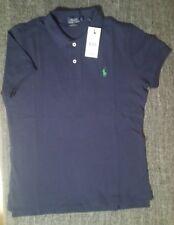 Superb Skinny Polo Ralph Lauren blue fonce logo vert  taille M 100% neuf !!!