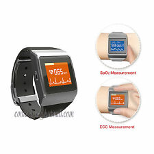 US Bluetooth Fitness Heart Rate Monitor Bracelet Watch Calories Counter ECG SPO2