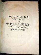 1730 P. de La Hire Traité de Mecanique.  Academie Royale des Sciences Physics