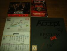 Accept – Restless and live signed autographed Earbook CD DVD UDO U.D.O. Overkill