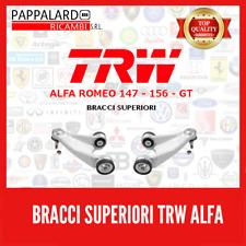 KIT 2 BRACCI SOSPENSIONE ANTERIORI SUPERIORI TRW ALFA 147 156 GT