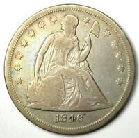 1846-O Seated Liberty Silver Dollar $1 - VF Details - Rare New Orleans Mint Coin
