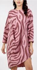 Pink Zebra Print Cotton Dress - One Size Fits 10-18
