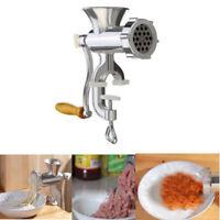Meat Grinder Mincer Stuffer Hand Manual Sausage Filler Sauce Maker Machine US