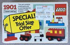 RARE Vintage (1984) Lego 1901 Basic Building Set 1901 - Collectible - NIB