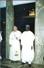 554- CARTE  VATICAN VISITE PAPE JEAN PAUL II   AU  NIGERIA
