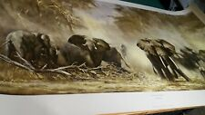 Elephants At Amboseli David Shepherd Very Rare Item In This Condition