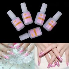 5x 10g  Nail Fast Drying Beauty False Art Decorate Tips Acrylic Glue With Brush