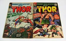 Journey Into Mystery #117 & #124 Stan Lee/Jack Kirby THOR MARVEL COMICS 1965-66