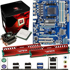 AMD X8 Core FX-8350 4.0Ghz & GIGABYTE 970A-DS3 & 8GB DDR3 1600 Viper Venom Red