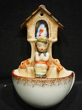 M I HUMMEL164 FIGURINE RELIGIOUS HOLY WATER FONT FULL BEE TMK2 Vtg  Wall Pocket