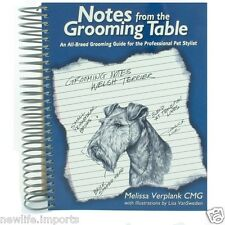 Notes from the Grooming Table ~ Pro Dog Grooming Book by Melissa Verplank