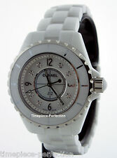 Chanel J12 White Ceramic 33mm MOP Diamind Dial H2422