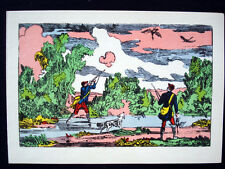 Vintage Imagerie Pellerin d'Epinal Common Scenes Greeting Cards InvHH