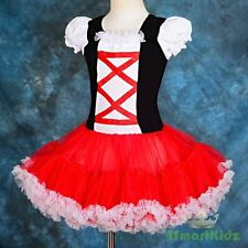 Petti Dress Pettidress Pettiskirt Tutu Party Birthday Girl Red Black Sz 8 PP104