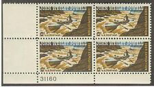 US USA Sc# 1374 MNH FVF Plate # Block John W Powell Geologist Boat Colorado Rive