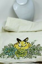 """Pottery Barn Easter Embroidered Table Runner ~ Pristine ~ 103"""" X 17.5"""""""