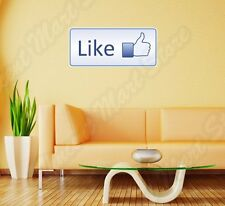 "Like Gun Social Media Facebook Funny Wall Sticker Room Interior Decor 25""X10"""