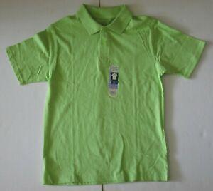 XL 14-16 Boys Faded Glory Short Sleeve Polo Shirt Lime Apple Green Cotton NWT