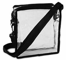 Clear Cross-Body Messenger Shoulder Bag Stadium Approved Transparent Purse Bag
