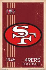 San Francisco 49ers Retro Logo Poster Print 22x34 T13183