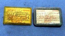 Vintage 1942 & 1945 California Resident Pin Back Fishing License
