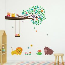 Decowall Animals Tree Nursery Kids Removable Wall Stickers Decal DW-1410