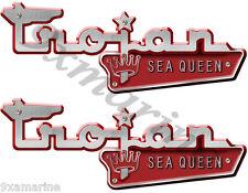 Trojan Vintage Sea Queen Boat Name Plates-Remasterd Decal