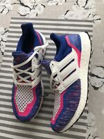 NEW Adidas Ultra Boost Mens Shoes (11.0) - Blue, Pink, White