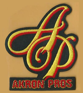 AKRON PROS ~  Willabee & Ward NFL GOLDEN AGE FOOTBALL TEAM PATCH ~ PATCH ONLY ~