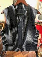Luxury Haider Ackermann Vest Black with White Strips Size M Made in Portugal