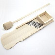 XL Profi-Krauthobel 60cm Schublade hochwertig Holz Edelstahlmesser Gemüsehobel