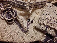 Sicilian daily knit bag, elegante borsetta da occasione in maglia traforata