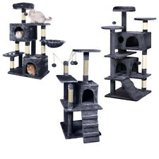 AVC Cat Kitten Scratch Post Bed Activity Nest Tree Dark Grey Multi Level Tower