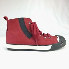 Keen Children's High Top Sneakers Shoes Size 1 Red Suede 9644-JSRD