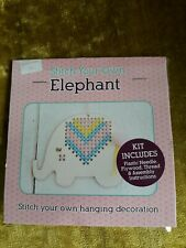 Stitch Your Own Hanging Wooden Elephant  - FREE P&P