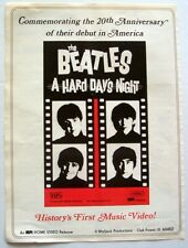 THE BEATLES 1984 POSTER ADVERT A HARD DAY'S NIGHT