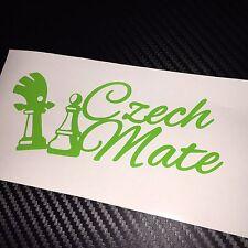 GREEN Czech Mate Sticker Decal Graphic Skoda