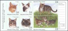 Finland 1995 Exotic Cats/Pets/Domestic Animals/Nature/Kittens 6v bklt (b7703d)
