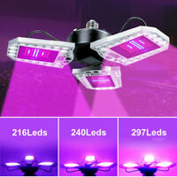 E27 Foldable Led Grow Light Full Spectrum Lamp for Hydroponics Plant Waterproof