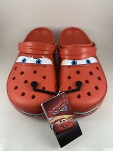 Crocs x Cars Lightning McQueen Red Classic Clog Size 11 Mens NEW DS 205759-610