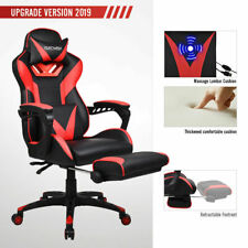 Gaming Racing Massage Office Chair Swivel Computer Recliner PU Leather Footrest2