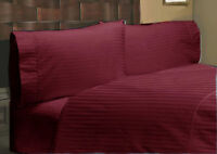 Comfort Bedding Items 1000 Thread Count Egyptian Cotton US Sizes Wine Striped