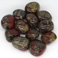 Natural Gems Tumbled Polished Dragon Bloodstone For Wicca Reiki Crystal Healing