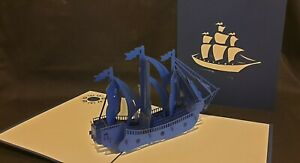 3D Pop up Sailing Boat/ Ship Card.(Birthday, Get Well, all Occasions